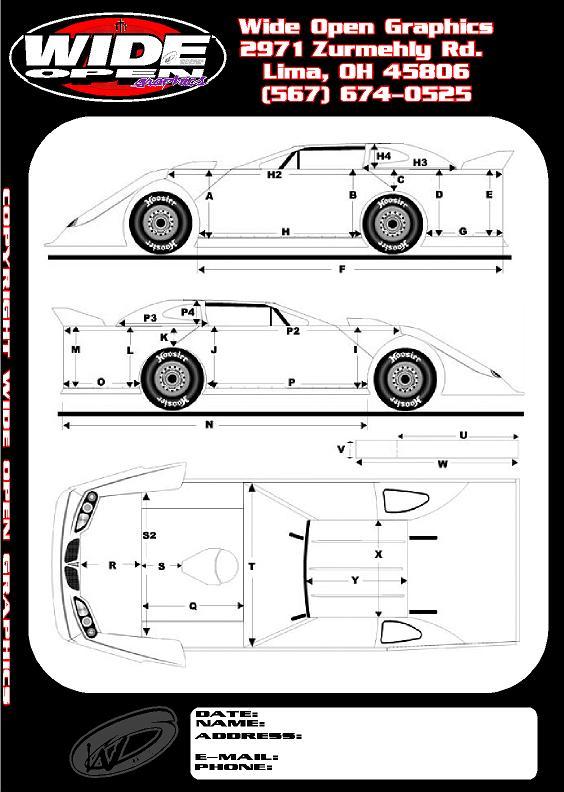 Wide Open Graphics Lima, OH - Race Car Decals, Custom Vinyl